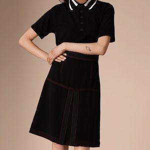 Burberry Prorsum Military Pleat A-line Skirt New